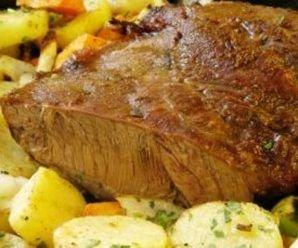 como preparar carne de ternera asada al horno con papas