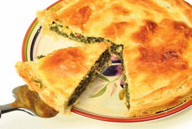 pastel de espinaca y queso parmesano al horno